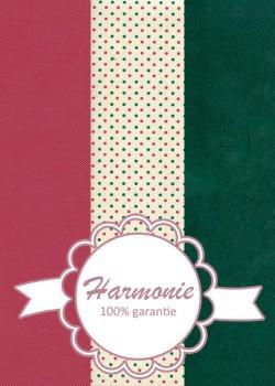 HARMONIE TRIO Les petits points roses et verts fond ivoire