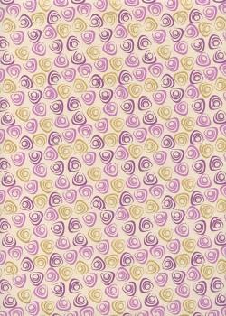 """""""Tourbillons"""" mauve et or (50x70)"""