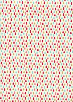 """""""Larmes"""" menthe rose et or (50x70)"""