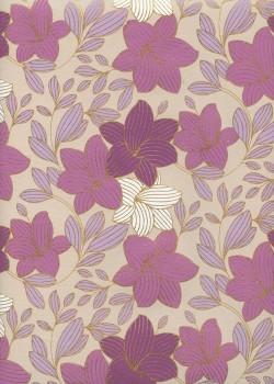 """""""Floral"""" parme et or (50x70)"""