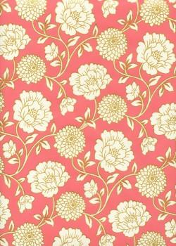 """""""Floral"""" corail et or (50x70)"""