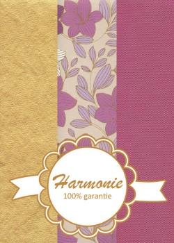 HARMONIE TRIO Floral parme et or