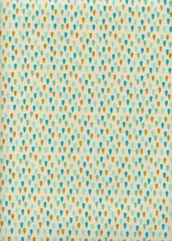 """Larmes"" turquoise et or (50x70)"