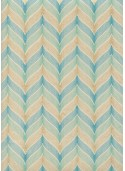 """Les accolades"" menthe turquoise et or (50x70)"