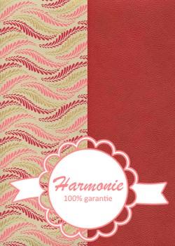 HARMONIE DUO Guirlande de feuilles framboise rose et or