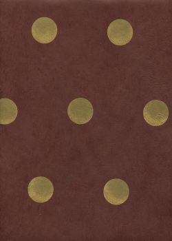Papier lokta cercles or sur fond chocolat (50x70)