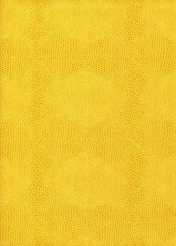 Lot de 10 feuilles PETIT FORMAT imitation lezard jaune (28x35)
