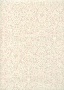 """""""Ornements"""" rose nacré fond ivoire (54x78)"""