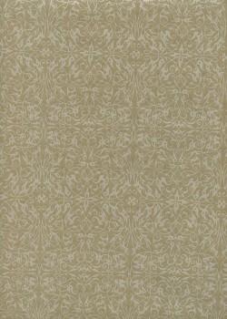 """Ornements"" blanc nacré fond taupe (54x78)"