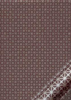 """Kinkaku """"géométrique argent fond lie de vin"""" (48x64)"""