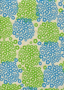 Papier lokta hortensia anis et bleu (50x75)