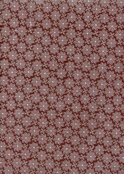 Papier lokta design graphique fond bordeaux (50x75)