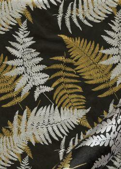 Papier lokta les fougères or et argent fond noir (50x75)