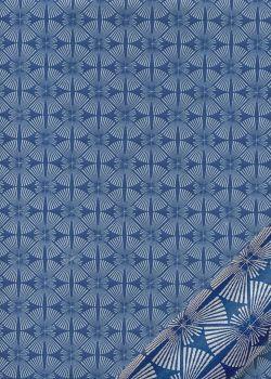 Mikado fond bleu (54x79)