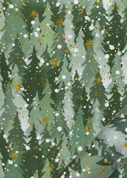 La neige tombait sur les sapins (68x98)