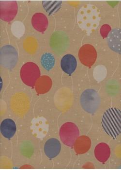 Les ballons colorés fond kraft (48x68)