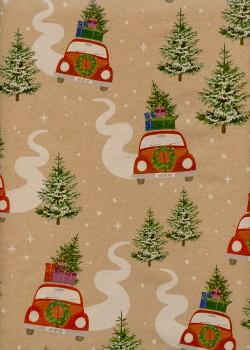 Les bolides de Noël fond kraft (68,5x98)