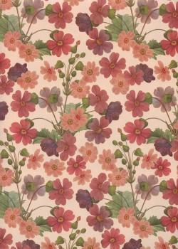 Fleurs des champs ton vieux rose (70x100)