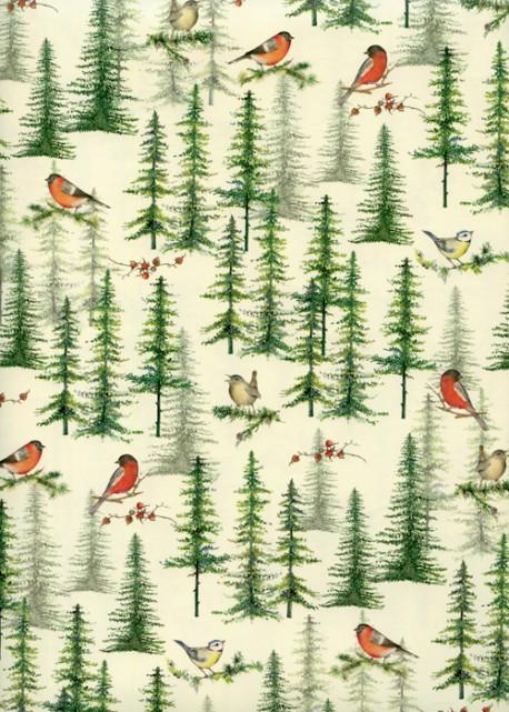 Les oiseaux dans les sapins (70x100)