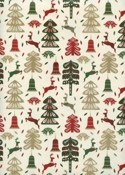 Les motifs de Noël fond ivoire (70x100)