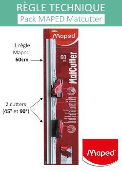 Kit Matcutter MAPED 60cm + cutters 45° et 90°