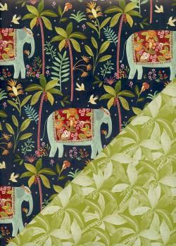 """Recto verso """"Les éléphants / les cocotiers"""" (50x70)"""