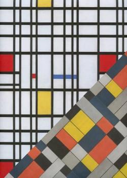 """Recto verso """"Géométrique fond blanc / géométrique fond gris"""" (50x70)"""