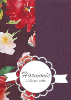 HARMONIE DUO Floral coloré fond aubergine
