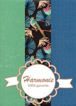 HARMONIE TRIO Feuilles de palmier métallisées et oiseaux