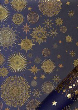 Les étoiles or sur fond dégradé bleu et noir (50x70)