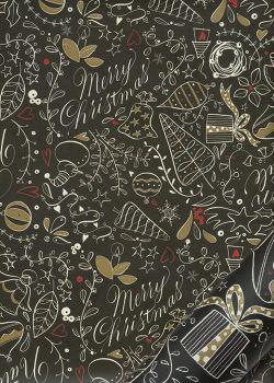 Merry christmas fond noir (70x100)