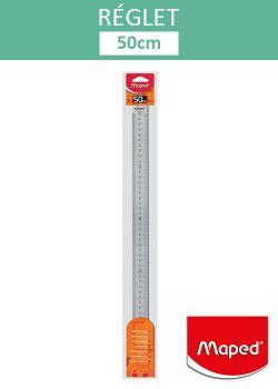 Réglet en acier inoxydable 50cm (larg. 3cm)