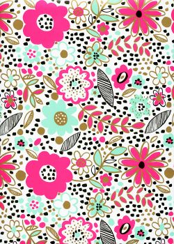 Floral ambiance fluo (50x70)