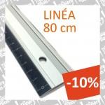 """Règle de coupe 'Linéa 80cm"""" en alu et bord acier + antidérapante Maped (-10%)"""